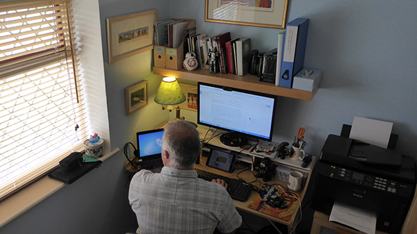 Home worker at their desk