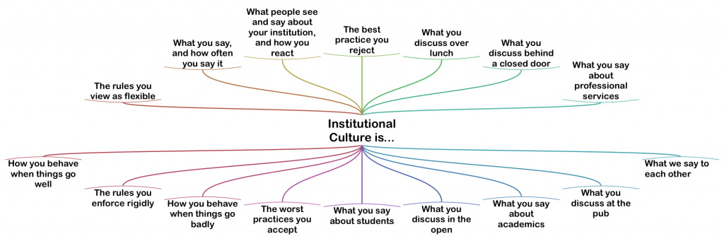 Institutional Culture is... Diagram