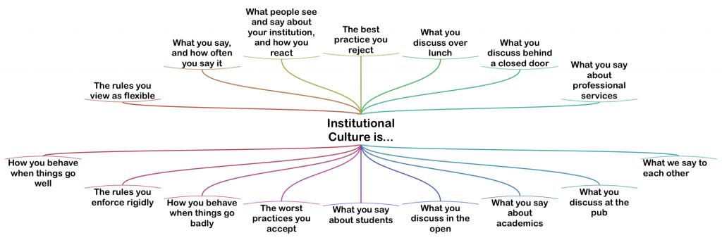 Institutional Culture is... Diagram