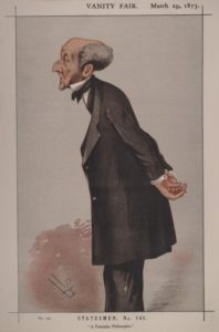 caricature of JS Mill