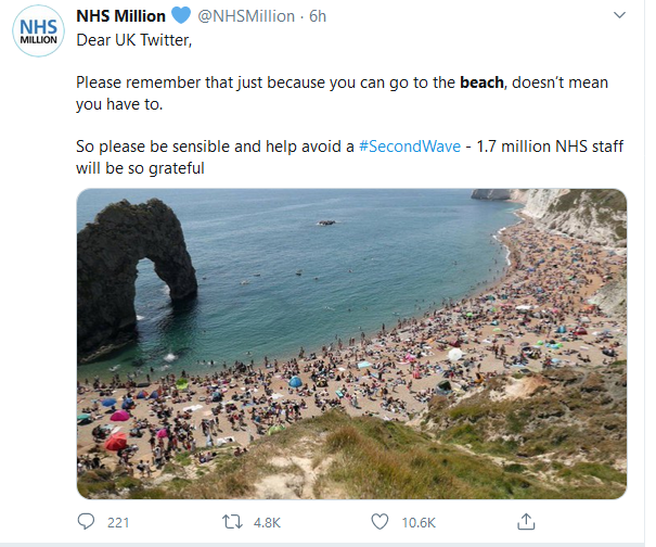 Image of packed beach